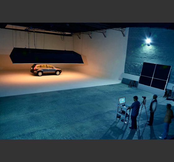 4500 sq ft. automobile photography studio