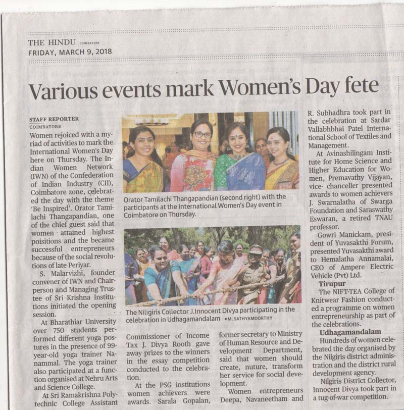 Light & Life Academy - Womens day celebration in  Ooty