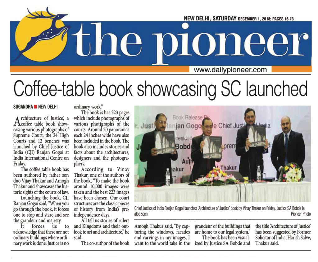 Coffee-Table book showcasing SC launched  - Architecture of Justice