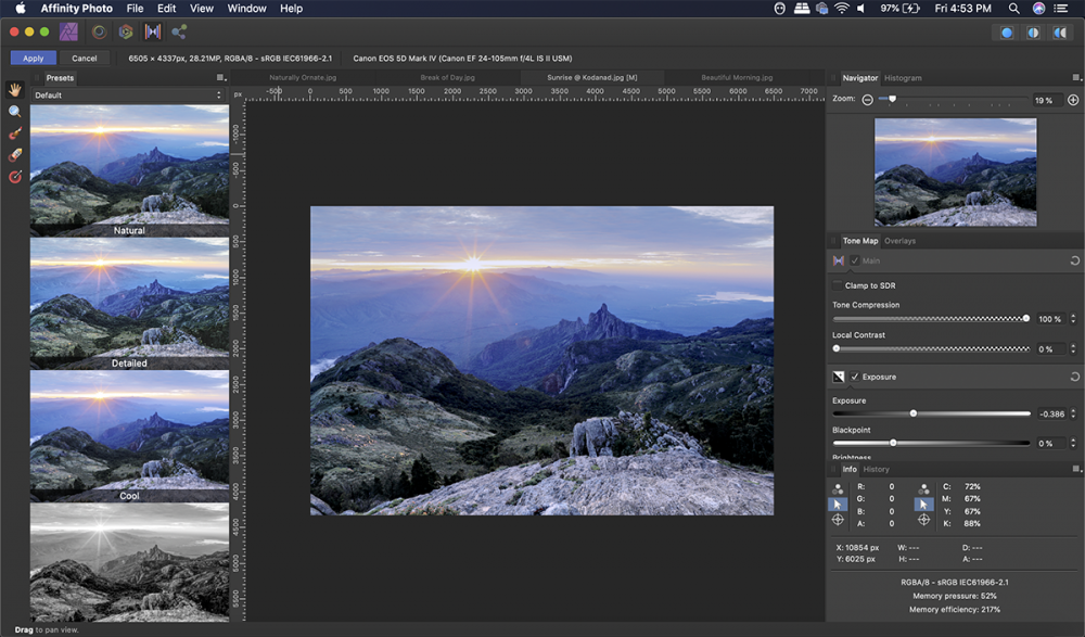 Get the most out of your images using Tone Mapping Persona